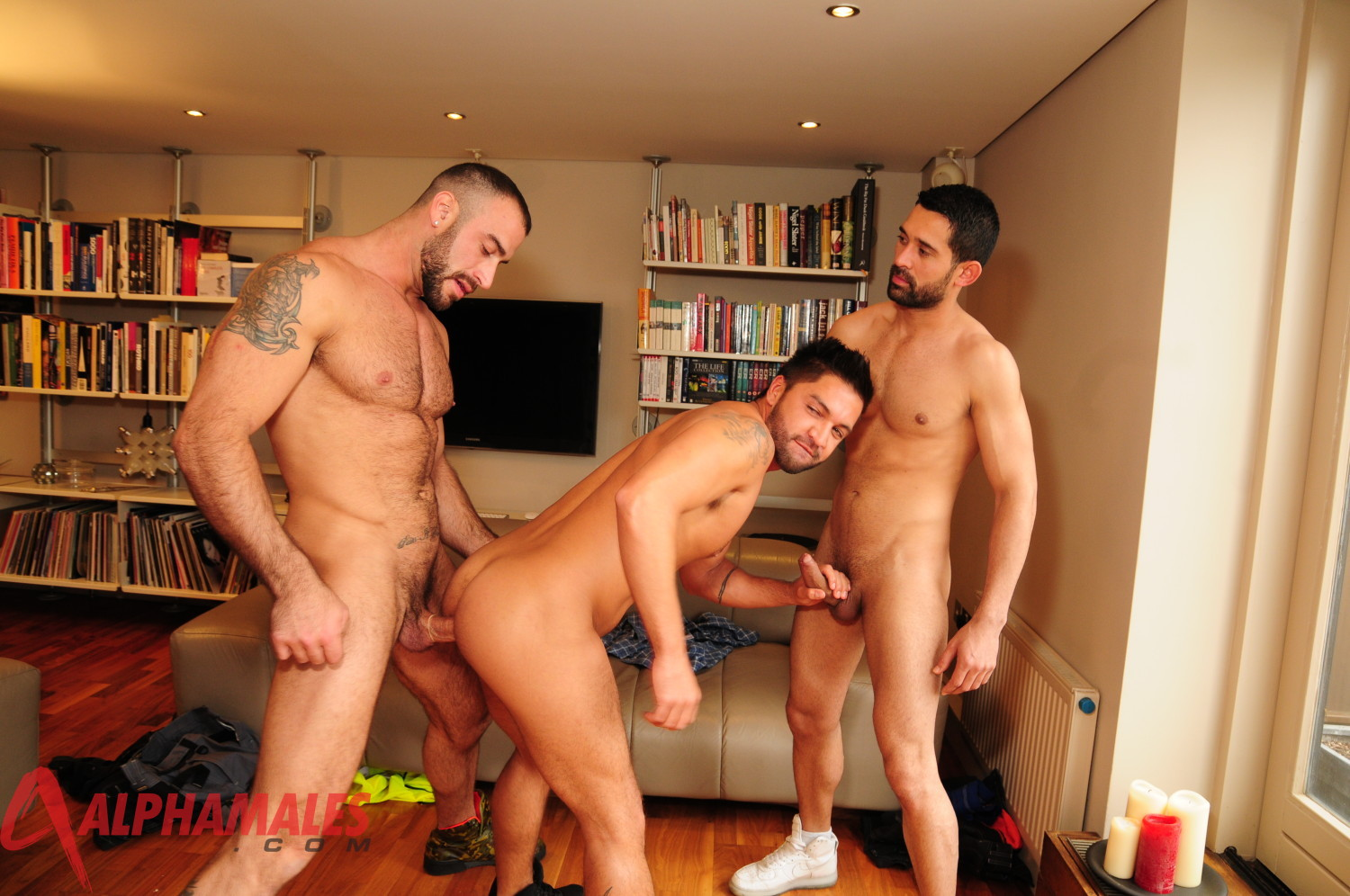 AlphaMales-Spencer-Reed-Billy-Baval-Fuck-Dominic-Pacifico-Post11 Muscular Hairy Amateur Spencer Reed in a Masculine Big Cock Tag Team