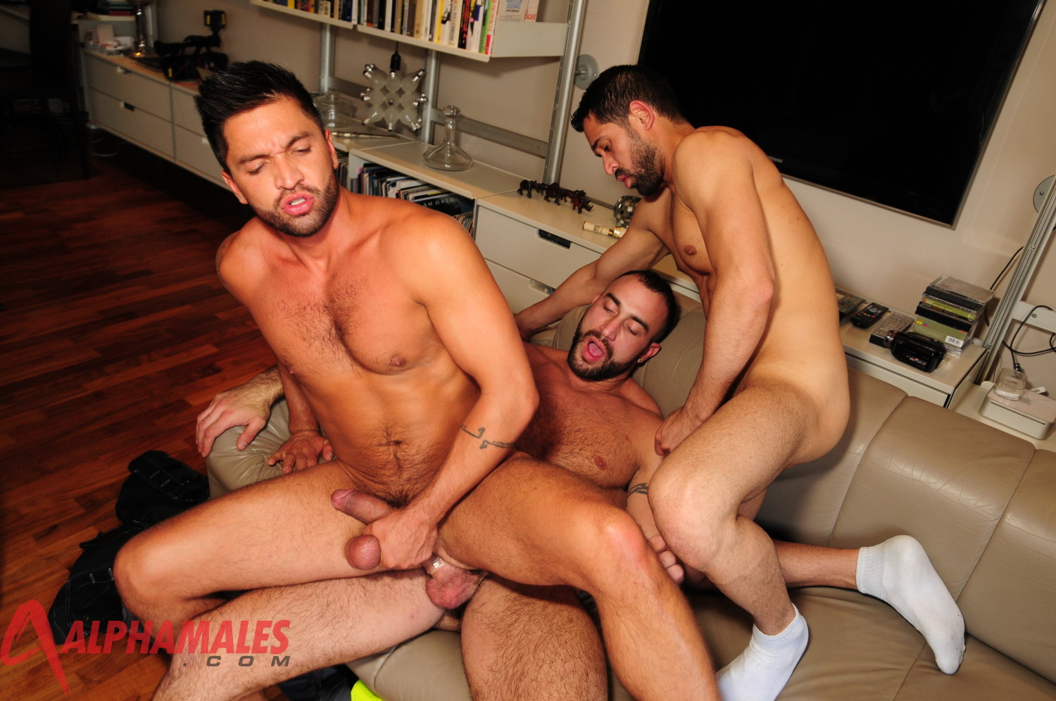 AlphaMales Spencer Reed Billy Baval Fuck Dominic Pacifico Post14 Muscular Hairy Amateur Spencer Reed in a Masculine Big Cock Tag Team