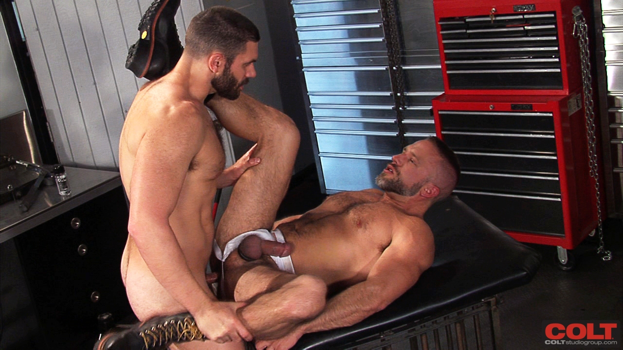 Colt-Armour-Bob-Hager-and-Dirk-Caber-Hairy-Beefy-Men-Fucking-132 New From Colt Studio: Bob Hager and Dirk Caber - Hairy Beefy Man Fuck