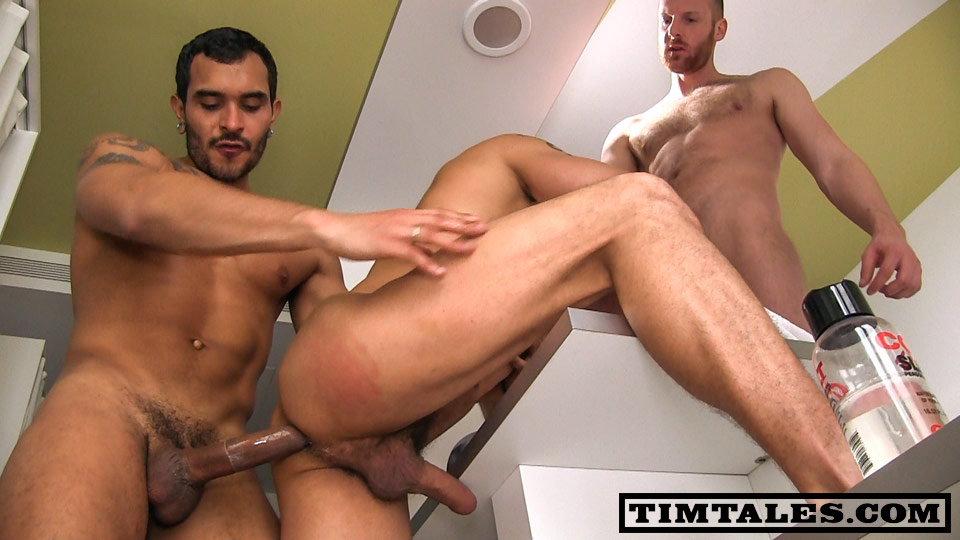 TimTales David Avila and Lucio Saints and Tim double penetration gay fucking Amateur Gay Porn 09 TimTales Threesome Double Penetration With Tim, David Avila & Lucio Saints