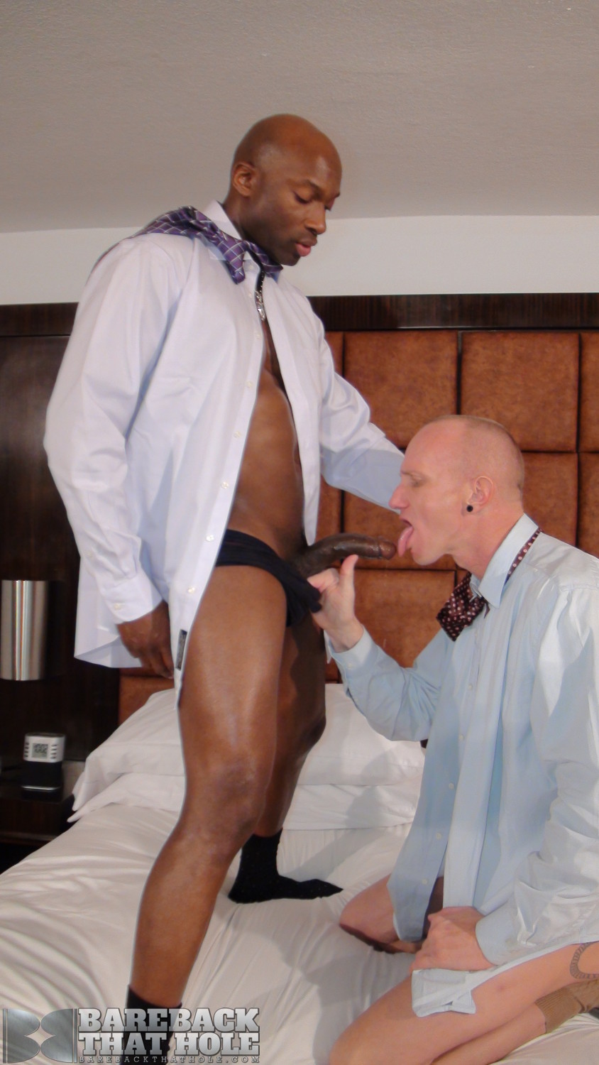 Bareback That Hole Champ Robinson and Mason Garet Interracial Big Black Cock Bareback Amateur Gay Porn 09 Black Corporate Executive Barebacks His White Co Worker