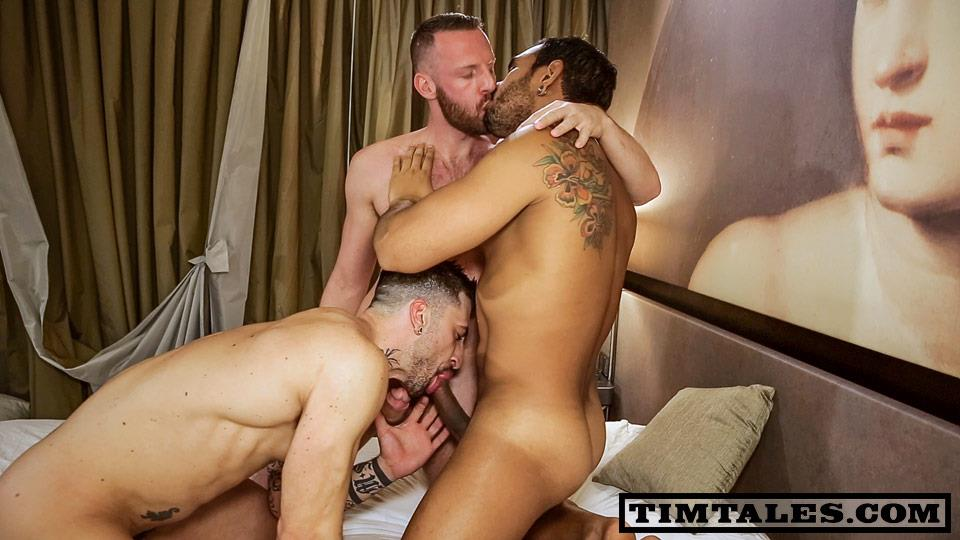 TimTales Lucio Saints and Tim fuck Sergio Moreno Huge Cocks Fucking a Tight Ass With Cum Facial Amateur Gay Porn 01 TimTales: Lucio Saints and Tim Tagteam Sergio Moreno