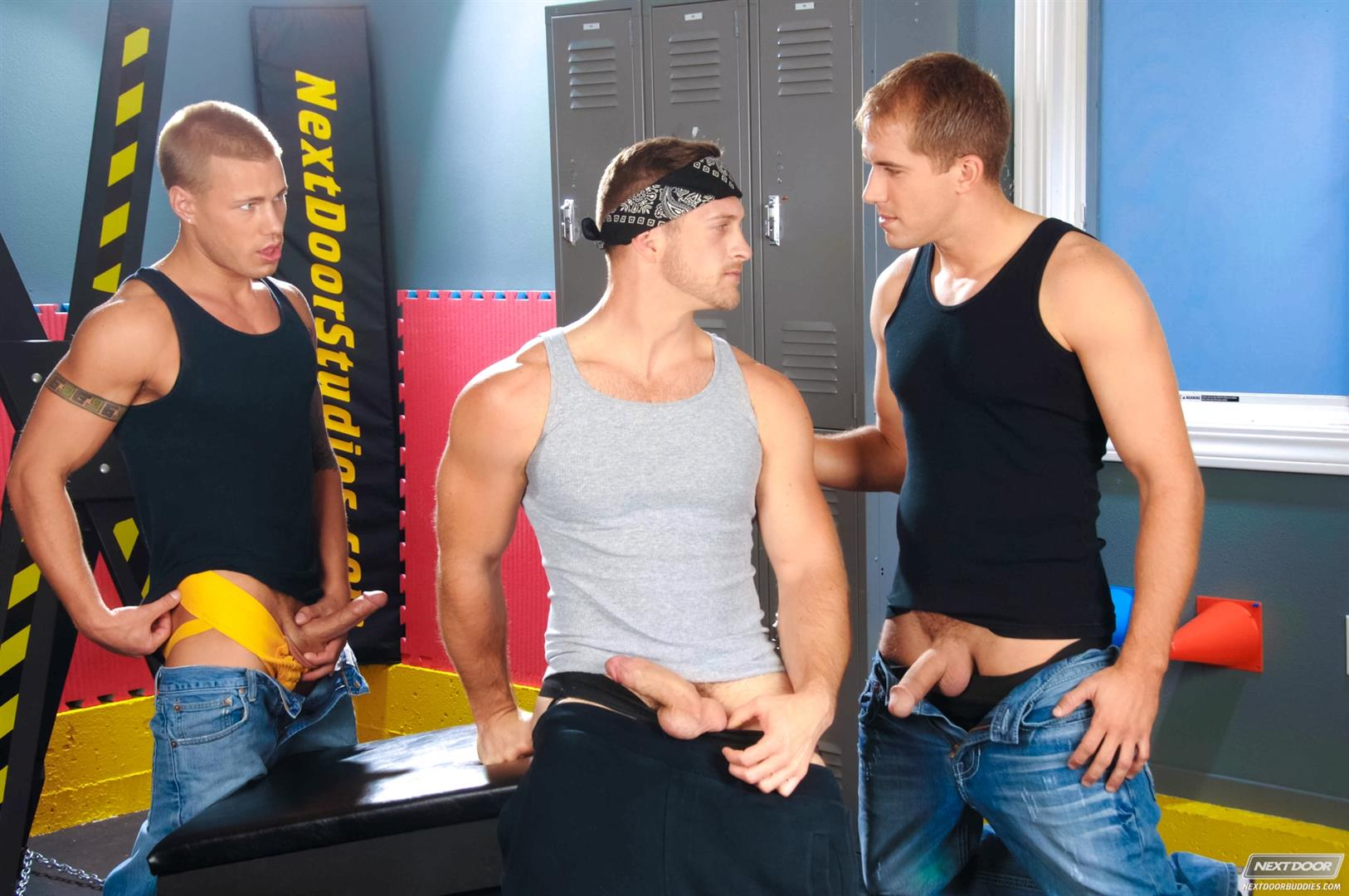 Next Door Buddies Brandon Lewis Paul Wagner Brody Wilder Hung Jocks Fucking In The Locker Room Amateur Gay Porn 02 Muscle Jocks Tag Teaming A Hot Muscle Ass In The Gym Locker Room