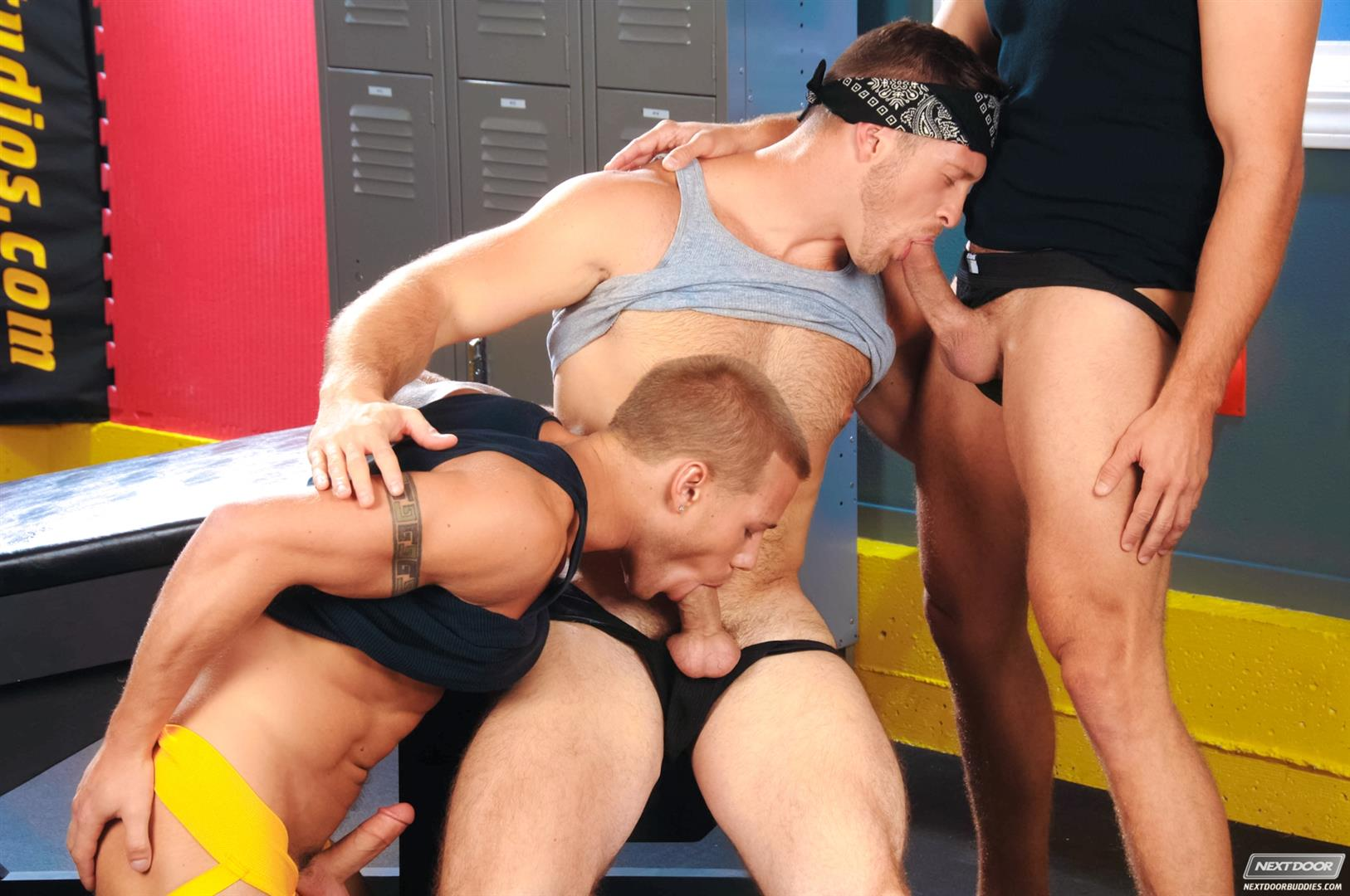 Next Door Buddies Brandon Lewis Paul Wagner Brody Wilder Hung Jocks Fucking In The Locker Room Amateur Gay Porn 04 Muscle Jocks Tag Teaming A Hot Muscle Ass In The Gym Locker Room