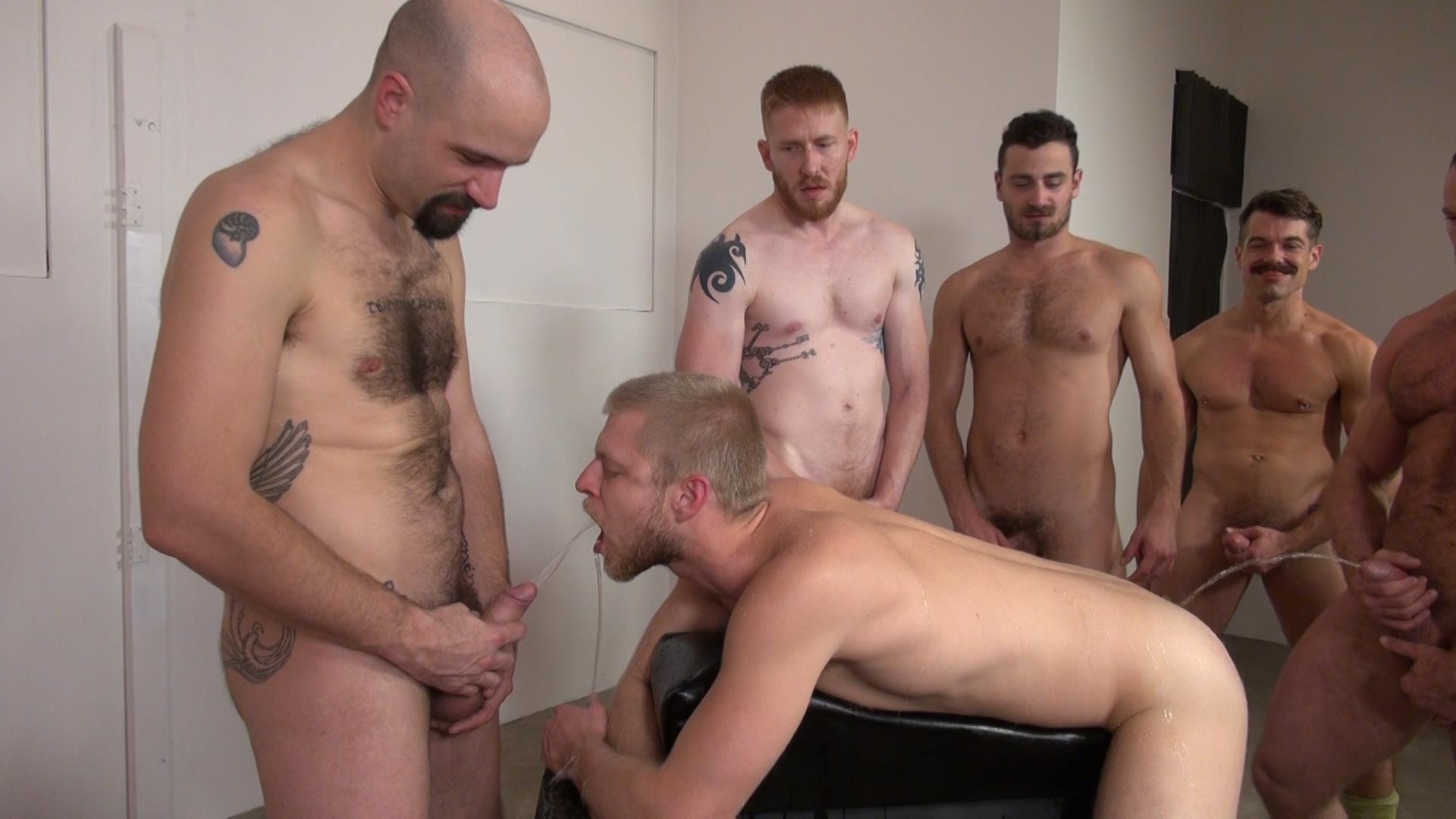 Raw-and-Rough-Bareback-Gay-Sex-Orgy-Amateur-Gay-Porn-08 Six Hairy Hung Guys Pounding A Bottom At A Bareback Sex Party