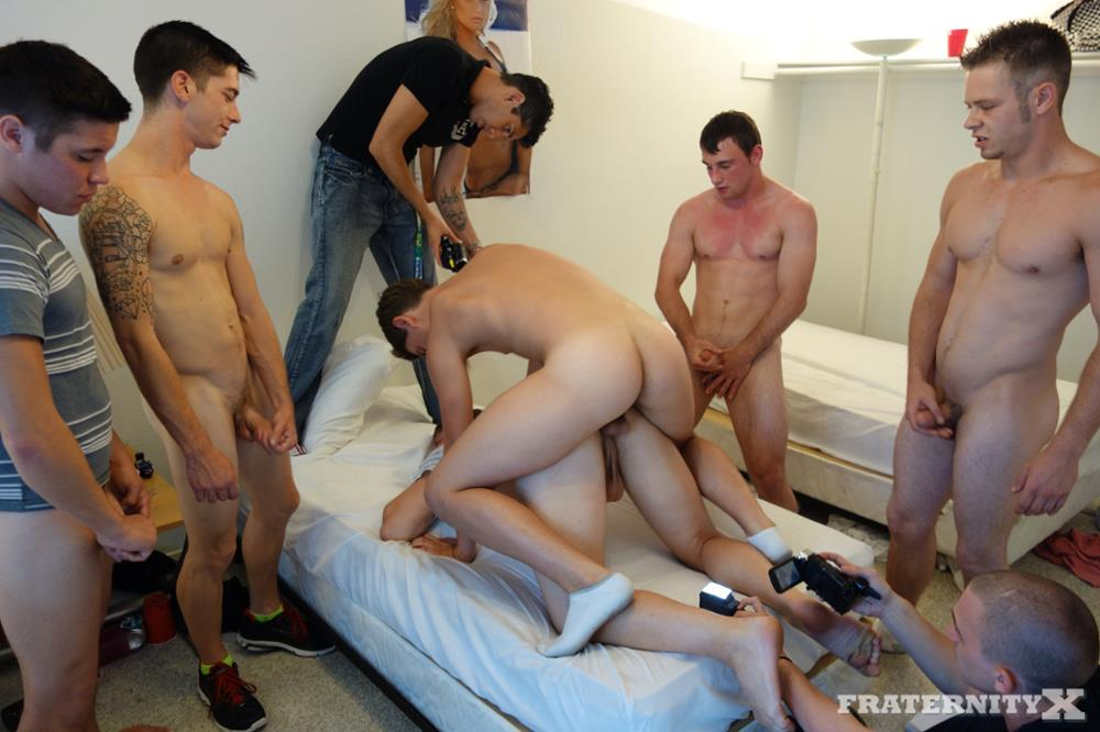 College Jock Hazed With Jerking Off In Public