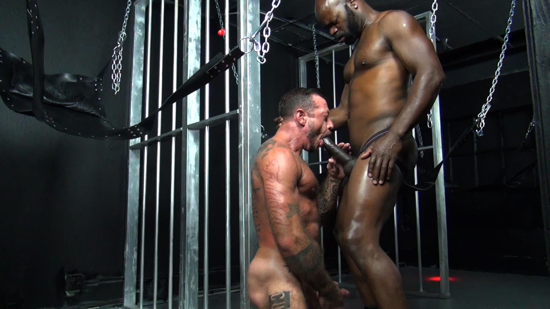 Gay black daddy fucks his slave