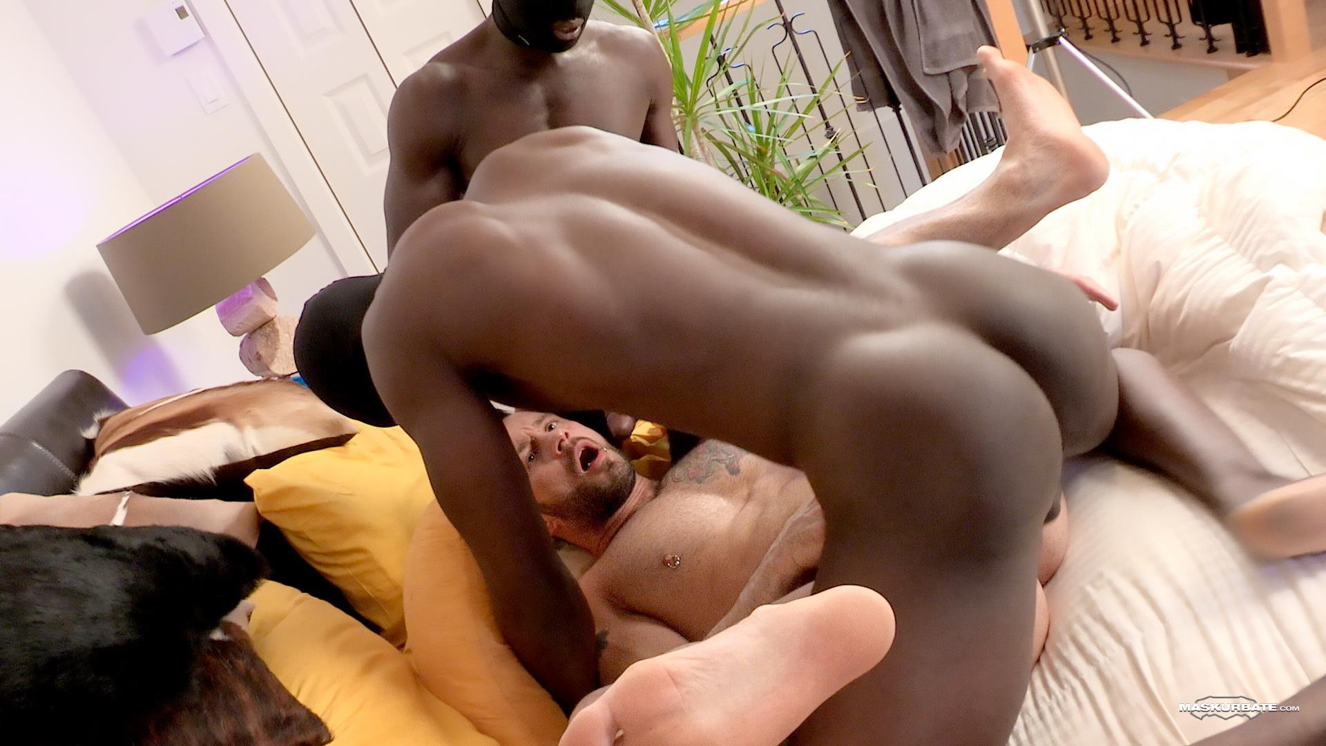 Interracial Gay Ass Fuck Train