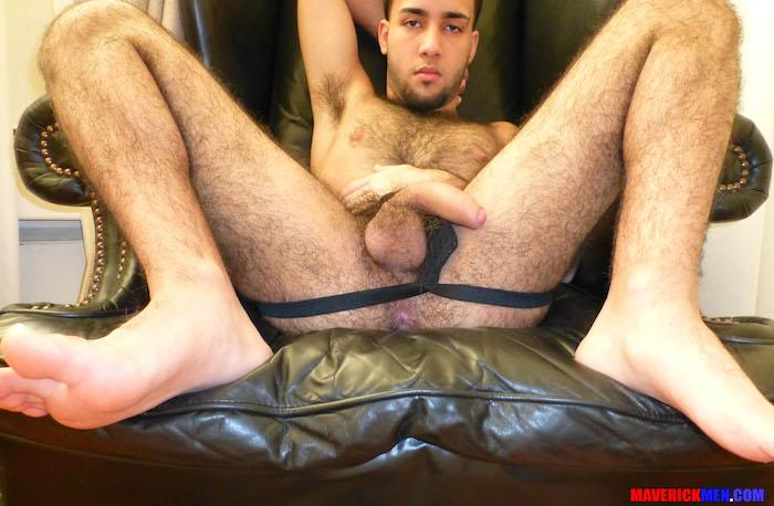 Maverick-Men-Little-Wolf-Hairy-Guy-With-Big-Uncut-Cock-Getting-Barebacked-By-Two-Daddies-Gay-Porn-11 Hairy Ass Young Guy Getting Barebacked By The Maverick Men