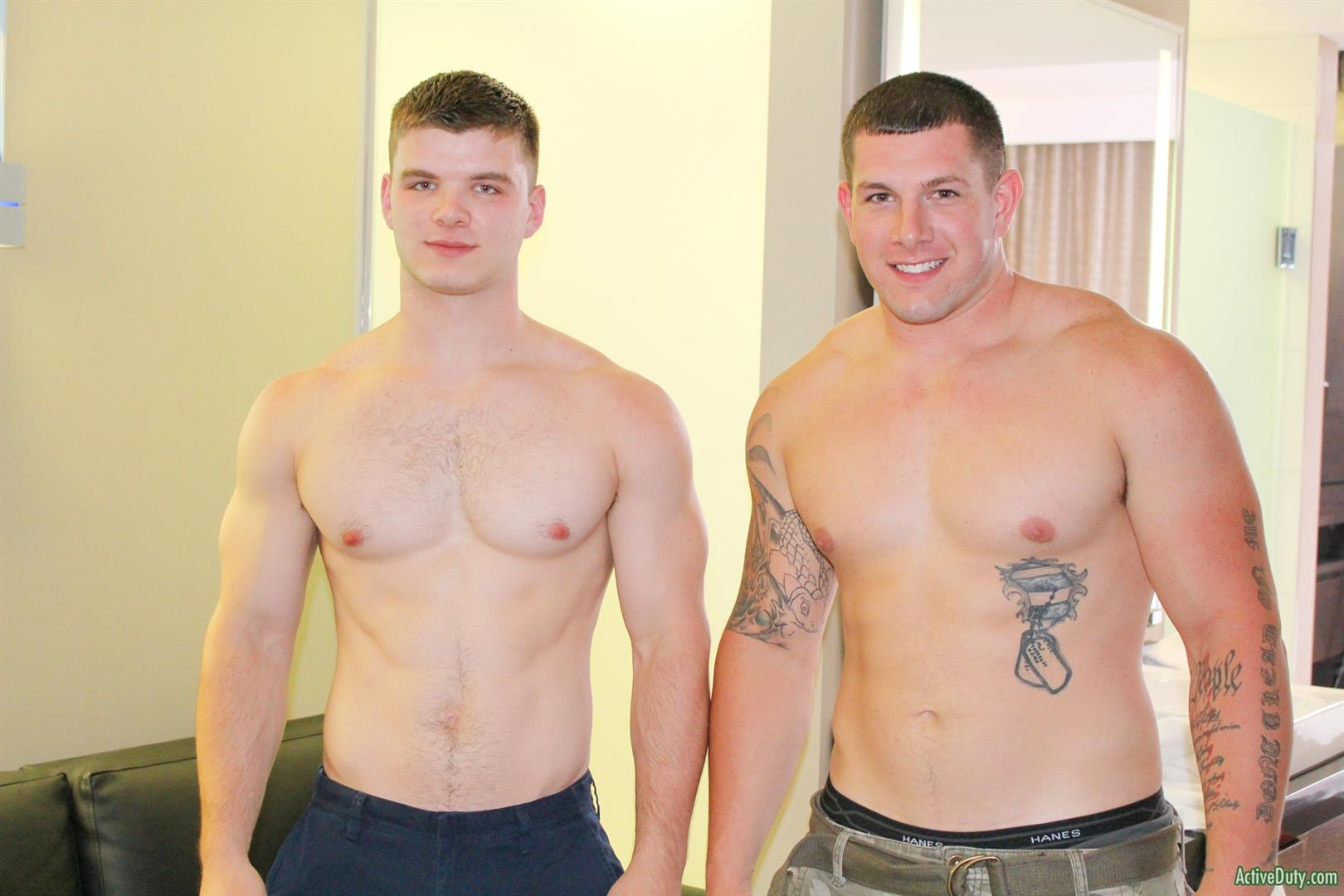 Active Duty Jeremy Diesell and Ivan Muscular Army Guys Barebacking Amateur Gay Porn 04 Straight Muscular Army Buddies Sharing A First Time Bareback Fuck
