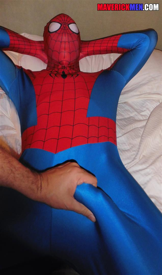 Maverick-Men-Spiderman-With-A-Big-Black-Dick-Bareback-Threesome-Amateur-Gay-Porn-04 Happy Halloween... Did You Know That Spiderman Has A Big Black Dick?