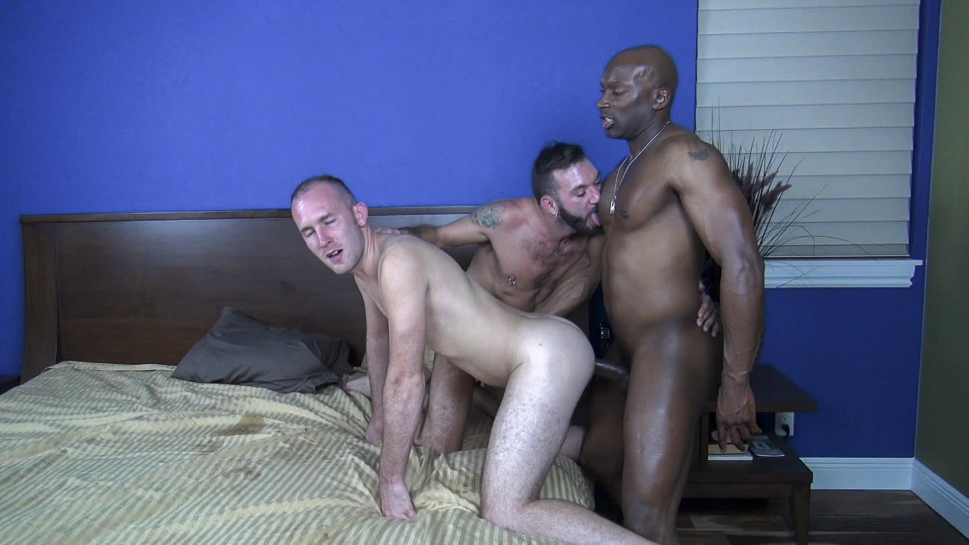bareback in ass dick black Gay white