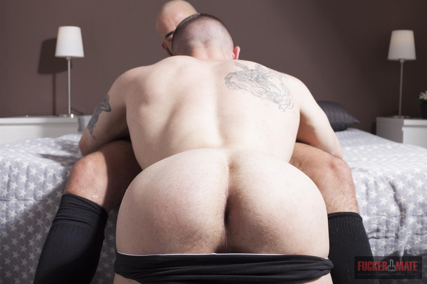 Fuckermate-Carlo-Fiero-and-Dalton-Sirius-Big-Uncut-Cock-Bareback-Amateur-Gay-Porn-4 Tatted Muscled Spaniard Gets Barebacked By A Huge Uncut Cock