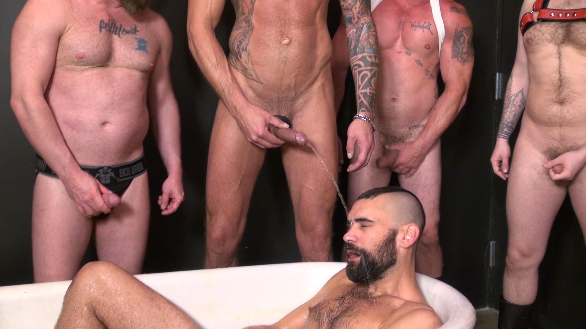 Raw-and-Rough-Piss-Tub-Bareback-Sex-Party-Amateur-Gay-Porn-02 Getting Bareback Fucked In The Piss Tub At The Gay Bar