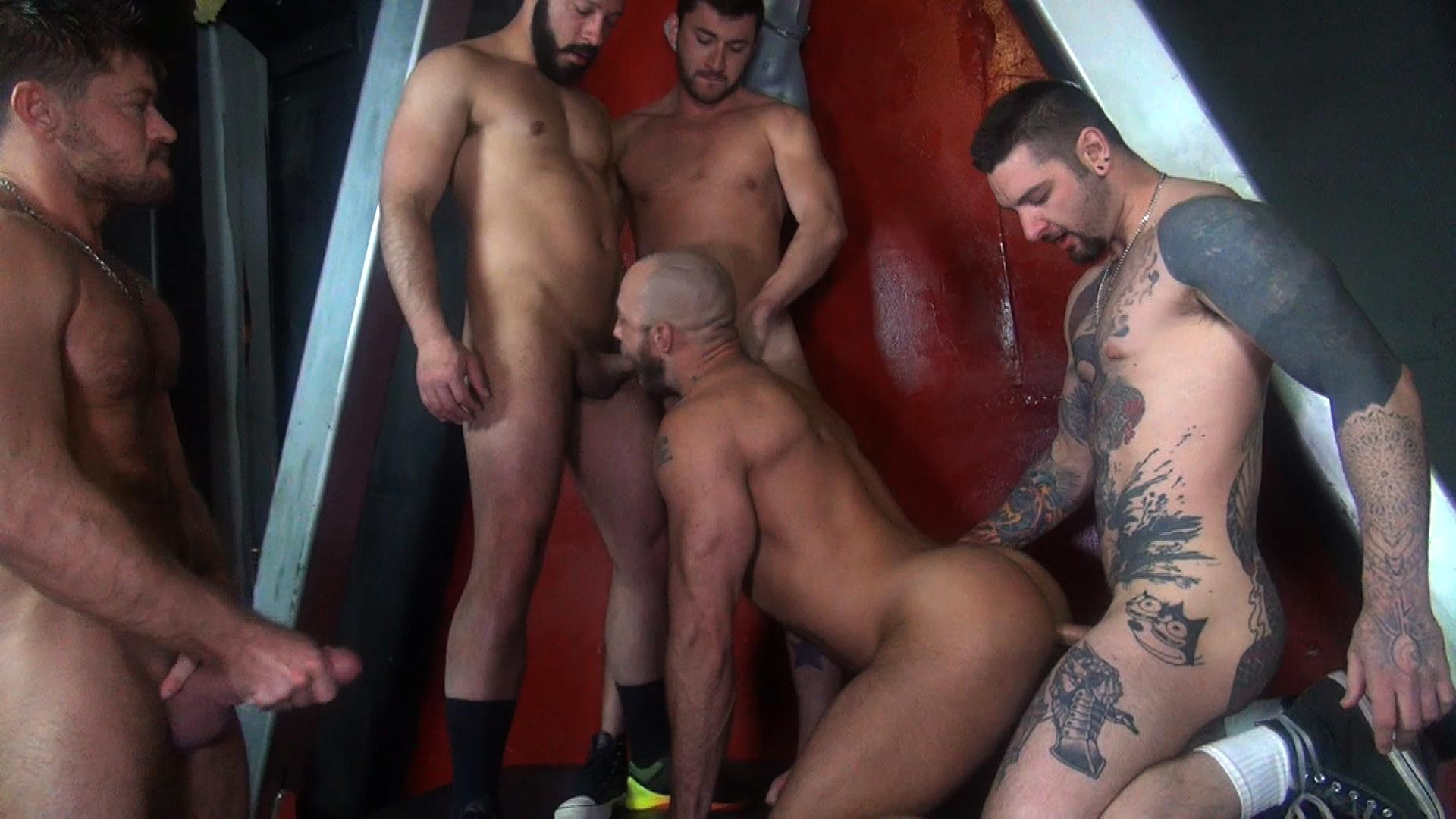 Raw-Fuck-Club-Dylan-Strokes-and-Scott-DeMarco-and-Jack-Andy-and-Jessie-Colter-and-Teddy-Bryce-Bareback-Sex-Video-08 Jessie Colter's First Bareback Gangbang At A Sleazy Bathhouse