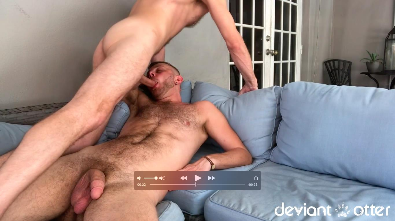Deviant-Otter-Chandler-Scott-Big-Dick-hairy-guys-fucking-bareback-free-video-2 Deviant Otter Breeds His Look Alike Buddy Chandler Scott
