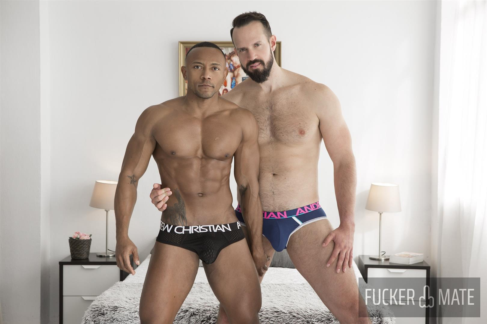 Fuckermate-Andy-Onassis-and-Santi-Konnor-Thick-Uncut-Cock-Brazilian-Bareback-Gay-Sex-01 Power Top Andy Onassis Breeds Santi Konnor With His Thick Uncut Cock