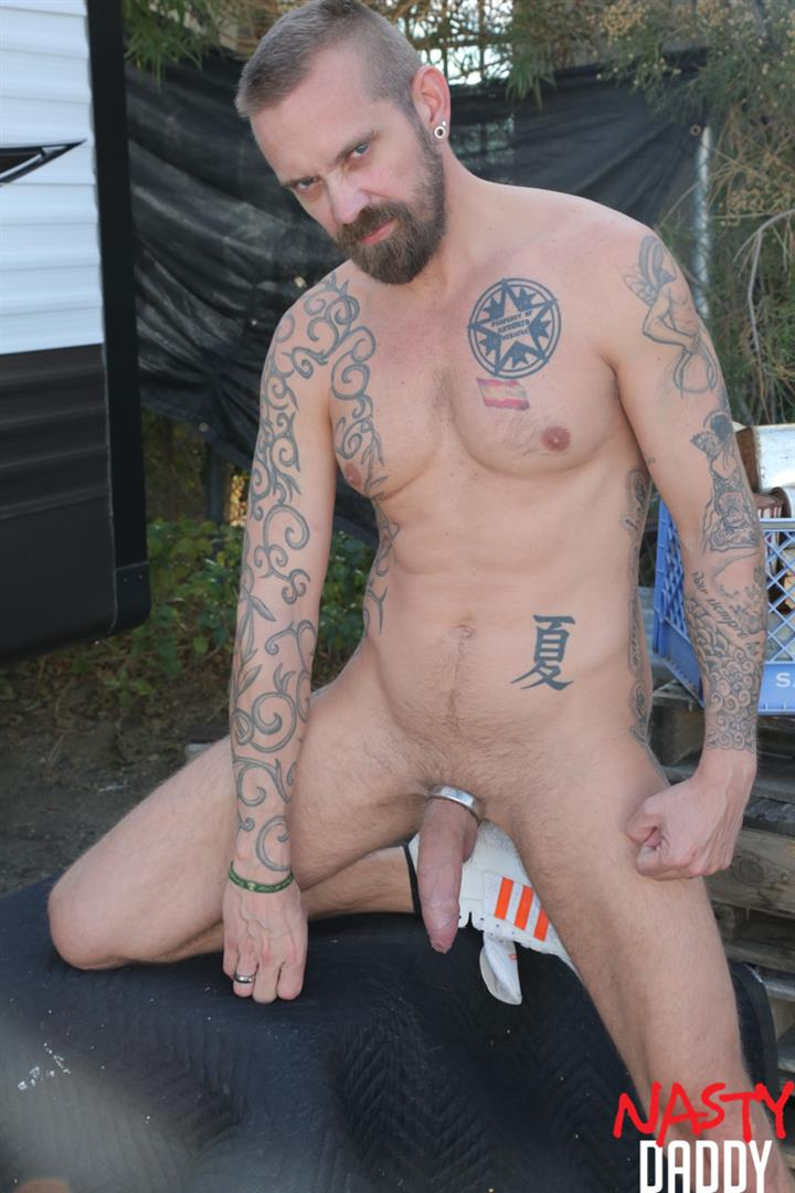 Nasty-Daddy-Manuel-Salco-and-Stephan-Raw-Big-Uncut-Dick-Daddies-Bareback-Sex-02 Big Uncut Dick Daddies Fucking Bareback At A Junkyard