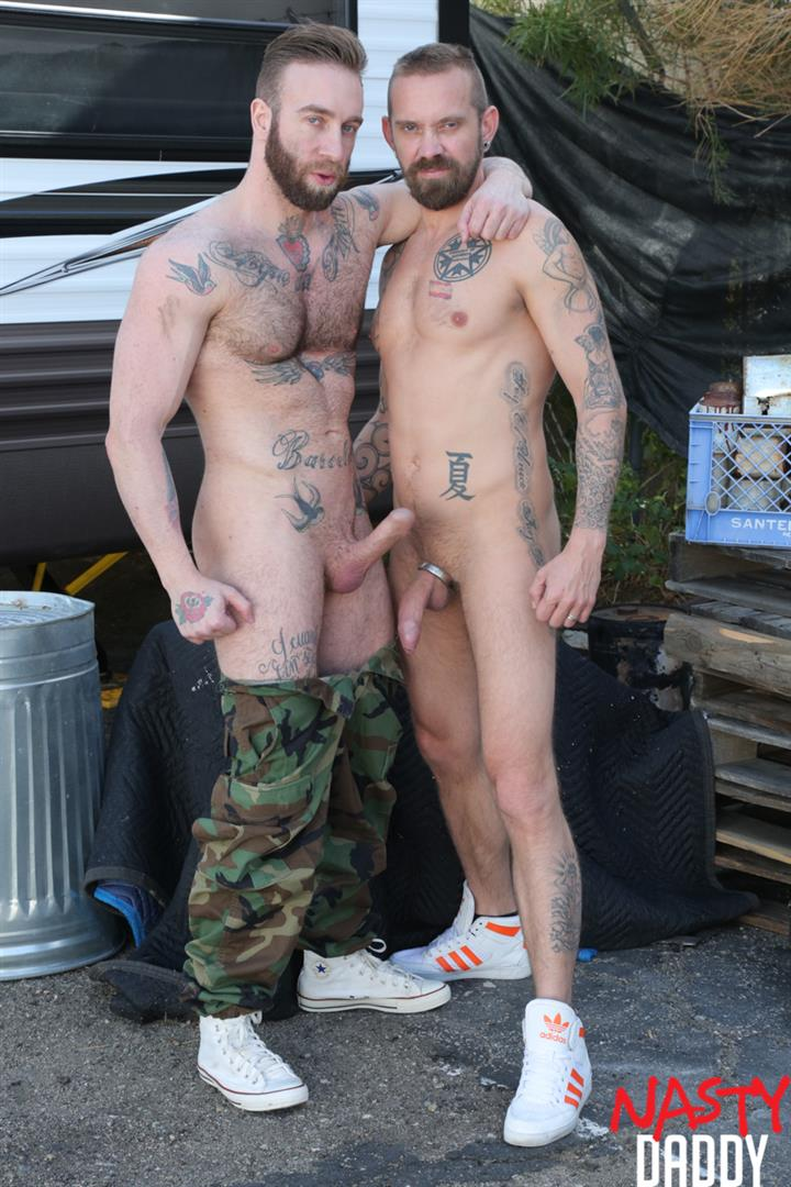 Nasty-Daddy-Manuel-Salco-and-Stephan-Raw-Big-Uncut-Dick-Daddies-Bareback-Sex-05 Big Uncut Dick Daddies Fucking Bareback At A Junkyard