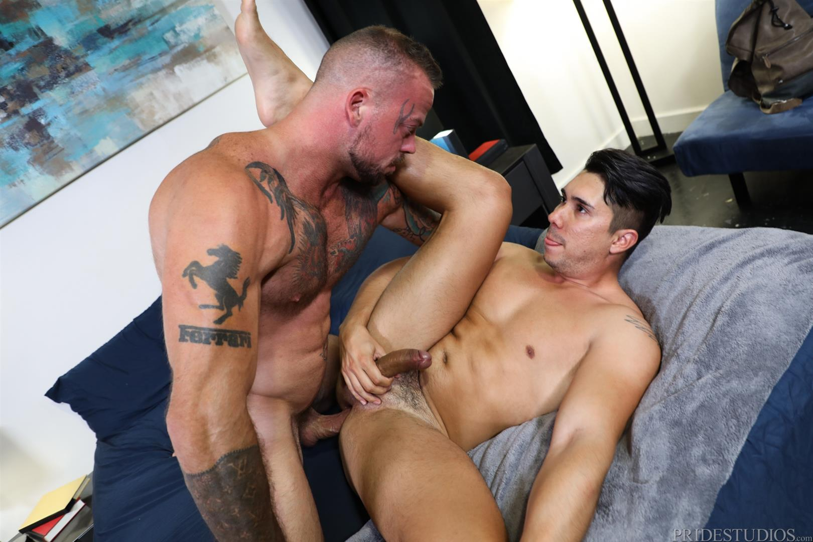 Pride-Studios-Sean-Duran-and-Adrian-Suarez-Muscle-Hunks-Bareback-Gay-Sex-Video-09 Muscle Hunk Sean Duran Breeding Adrian Suarez