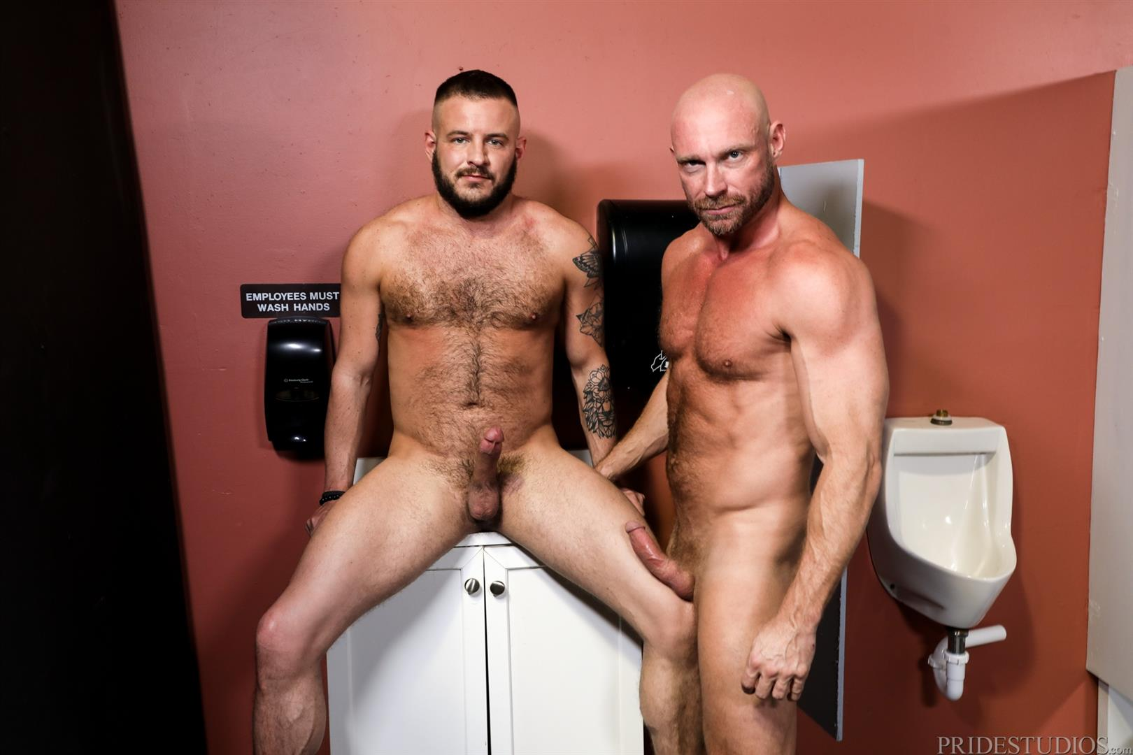 Men-Over-30-Killian-Knox-and-Sean-Harding-Bareback-Fucking-Public-Glory-Hole-08 Bareback Flip Fucking At A Public Glory Hole Restroom