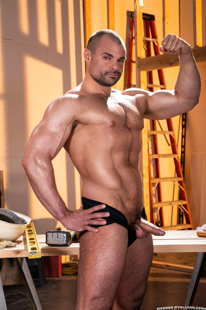 Raging-Stallion-Ricky-Larkin-and-Kurtis-Wolfe-and-Jaxx-Thanatos-Hairy-Muscle-Bareback-06 Hairy Muscle Hunks Ricky Larkin, Kurtis Wolfe and Jaxx Thanatos Bareback Fucking On The Job Site